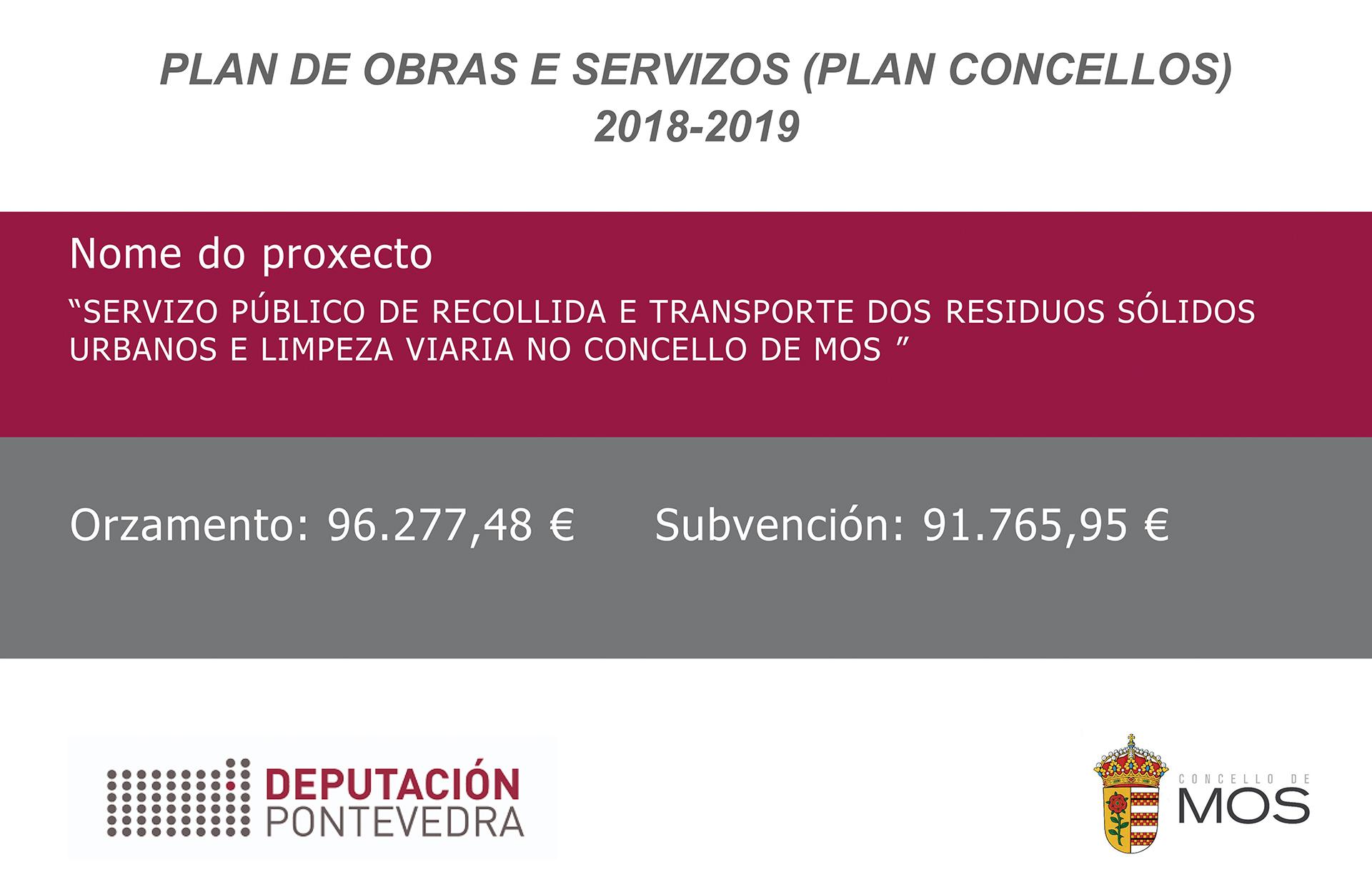 Plan de obras e servizos 2018-2019